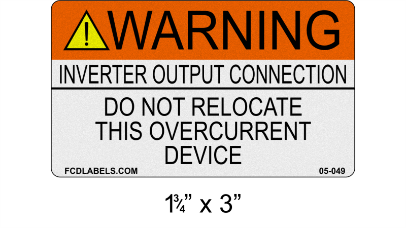 "Reflective ANSI 1.75"" x 3"" 