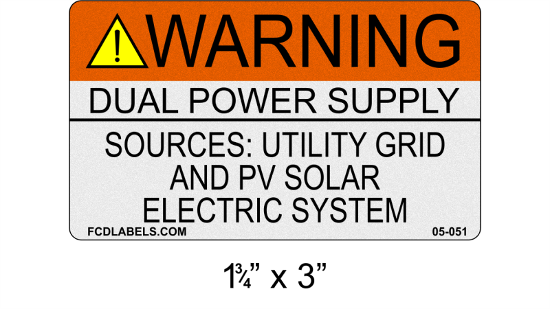 "ANSI Reflective 1.75"" x 3"" 