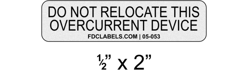 "ANSI Reflective .5"" x 2"" 