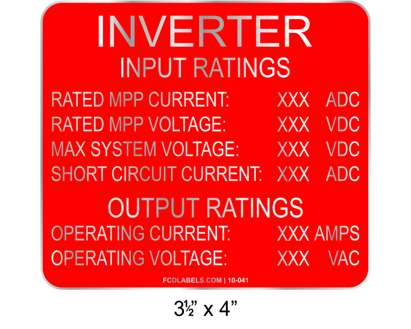 "3.5"" x 4"" 