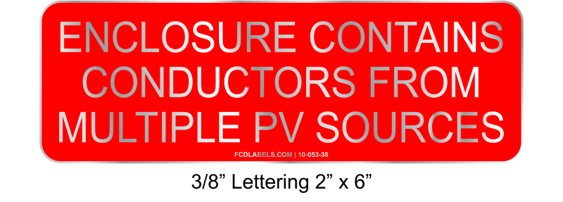"3/8"" Letters 2"" x 6"" 