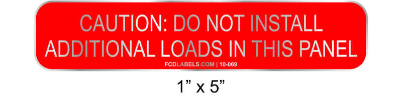 "1"" x 5"" 