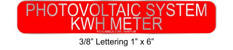 "3/8"" Letters 1"" x 6"" 