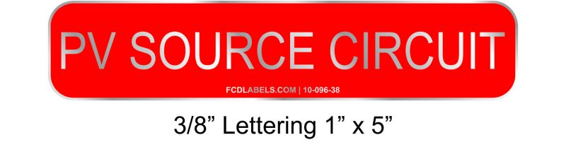 "3/8"" Letters 1"" x 5"" 