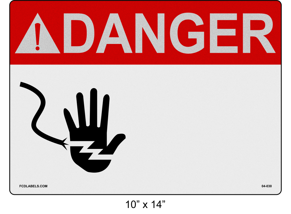 "Custom Reflective 10"" x 14"" 