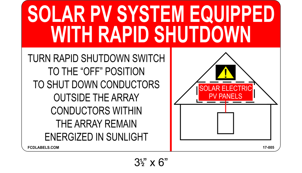 Label Pack PHOTOVOLTAIC System Equipped