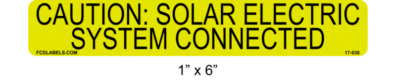 "Yellow & Black Reflective 1"" x 4"" 