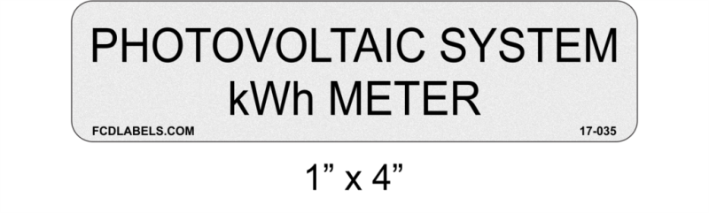 "1"" x 4"" ANSI Reflective 