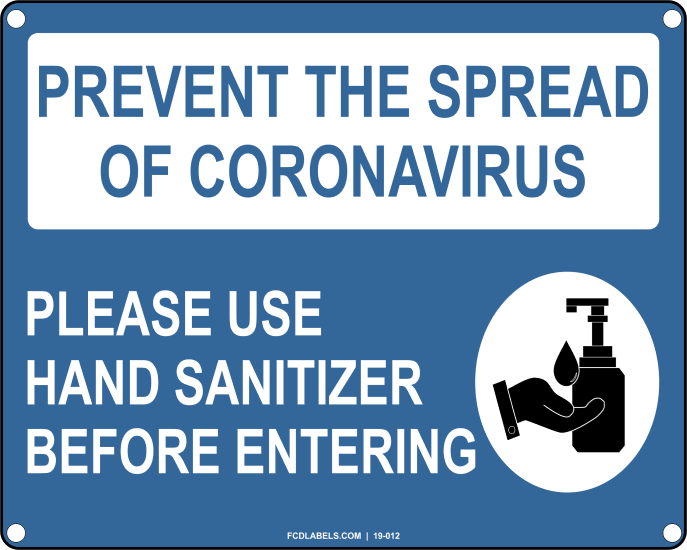 COVID-19 | PLEASE USE HAND SANITIZER BEFORE ENTERING
