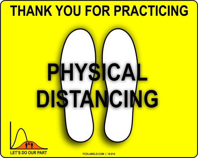 COVID-19 | THANK YOU FOR PRACTICING PHYSICAL DISTANCING