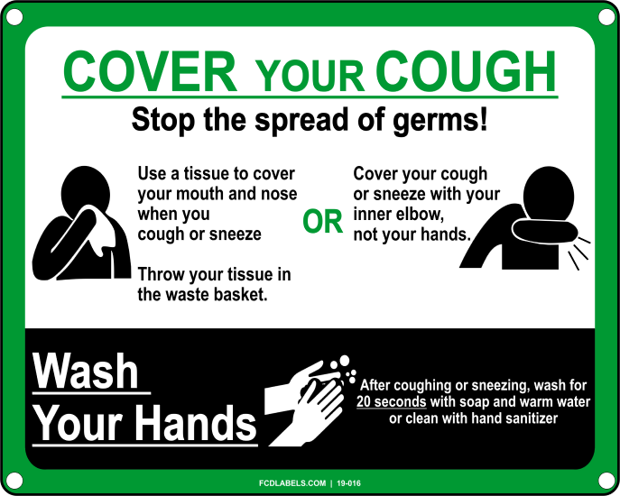 COVID-19 | STOP THE SPREAD OF GERMS. COVER YOUR COUGH. WASH YOUR HANDS.