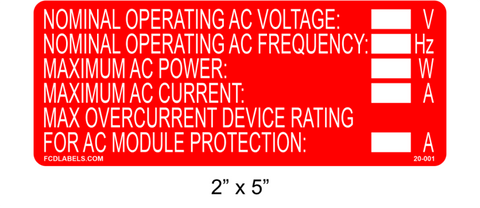 "2"" x 5"" 