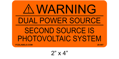 "2"" x 4"" Orange & Black 