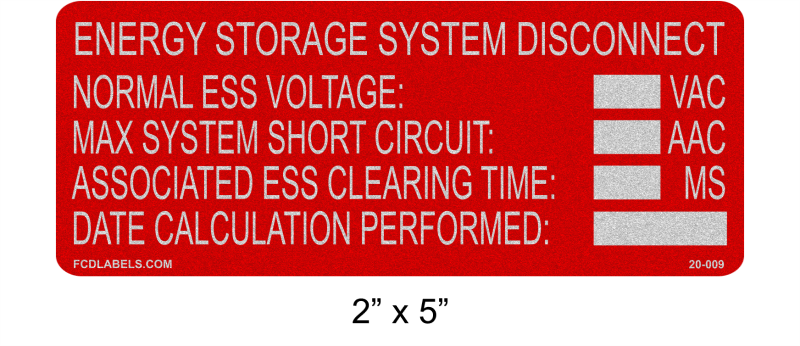 "Reflective 2"" x 5"" 