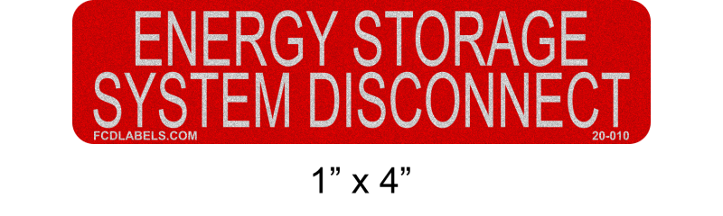 "Reflective 1"" x 4"" 