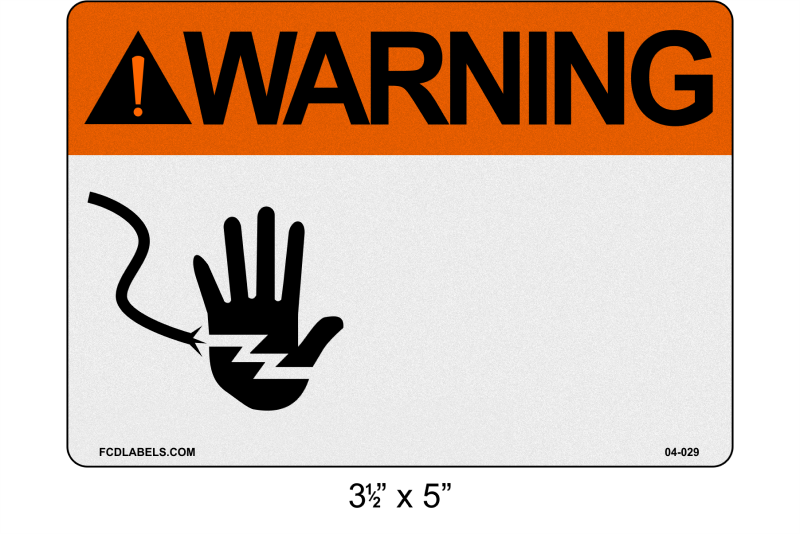 "Custom Reflective 3.5"" x 5"" 