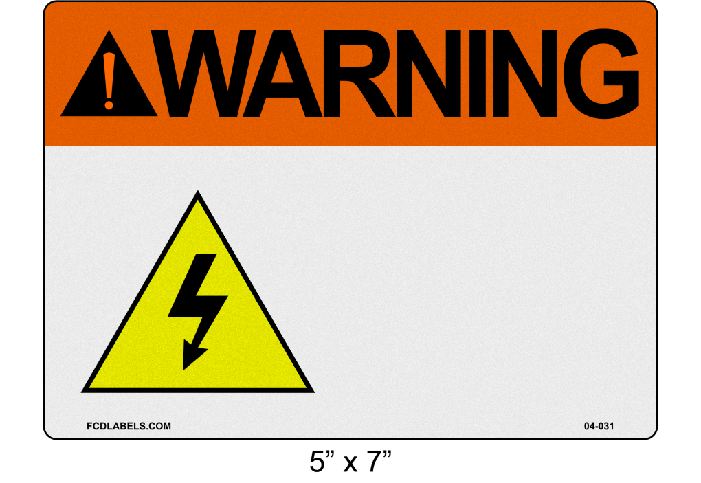"Custom Reflective 5"" x 7"" 
