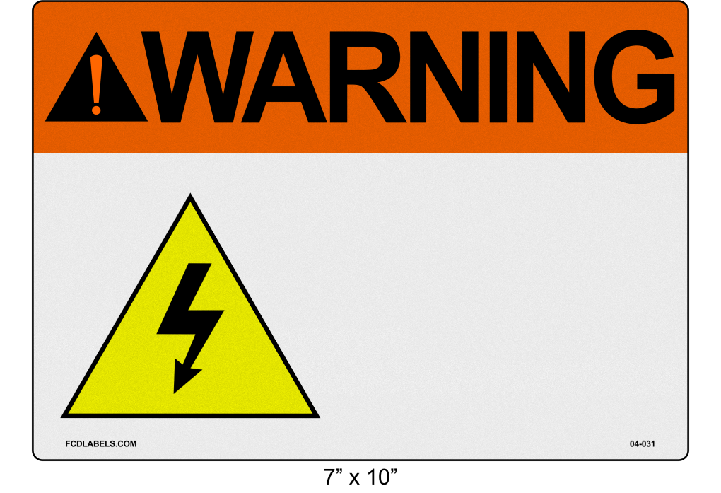 "Custom Reflective 7"" x 10"" 