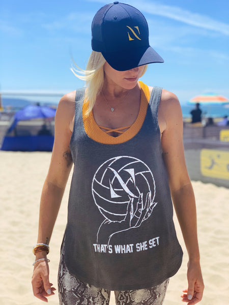 "Heather Grey ""That's what she set"" Tank - NAGINI"