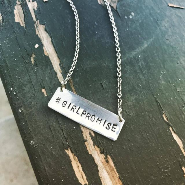 Stamped #GIRLPROMISE Necklace