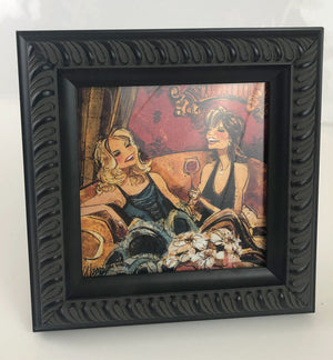 "5"" x 5"" Frames with Women & Wine Print"