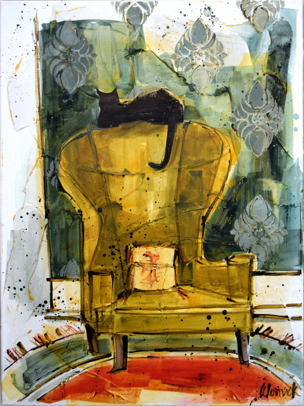 Cat On Chair #1