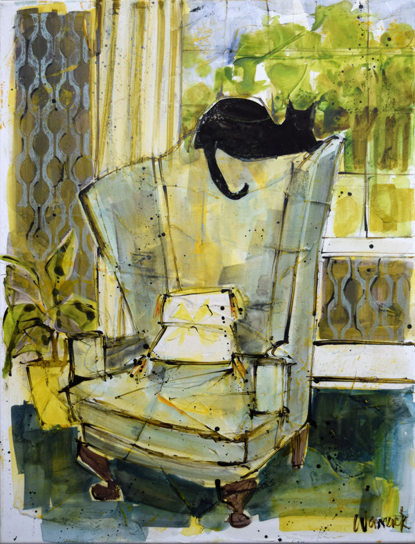 Cat On Chair #2