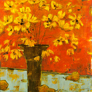 "Poppies - ""Poppies and Brown Vase with Pears"" Edition"