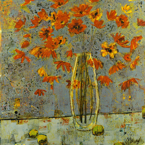 "Poppies - ""Poppies and Clear Vase with Limes"" Edition"