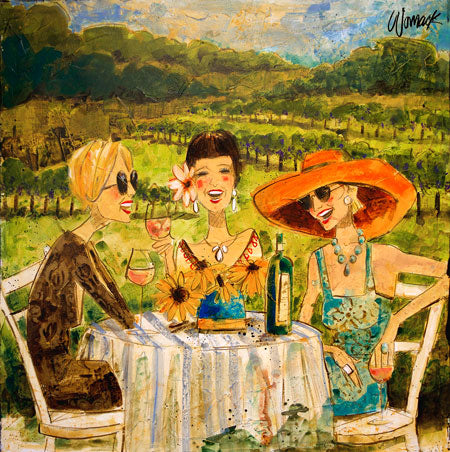 "Special - Women and Wine® Vineyard Trio 10"" x 10"""