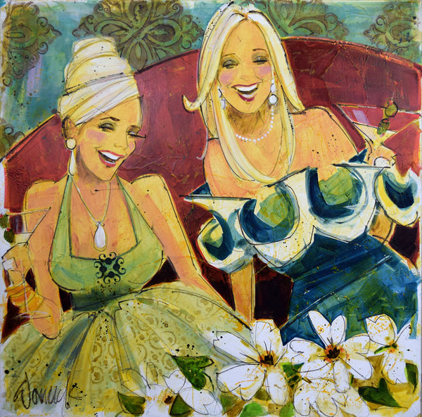 Women and Wine® Two Blondes (Walk Into A Bar) Edition - Original