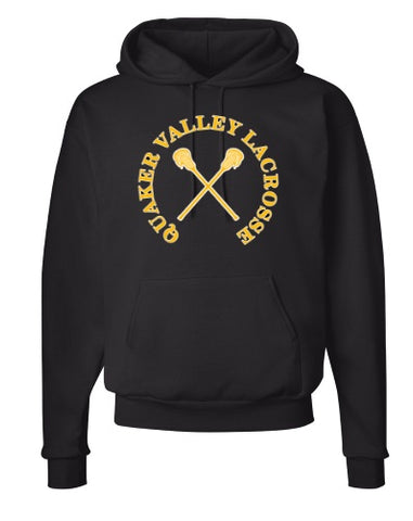 QVMS GIRLS LACROSSE COTTON HOODED SWEATSHIRT