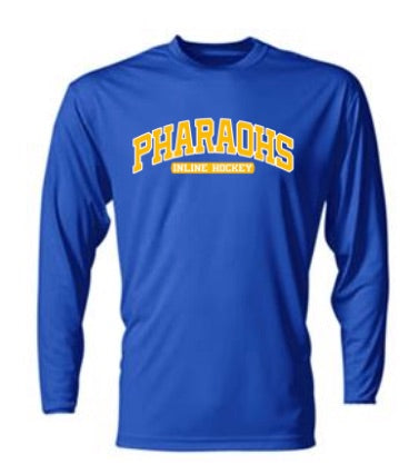 PHARAOHS HOCKEY POLY-WICKING LONG SLEEVE - 2 COLOR INK