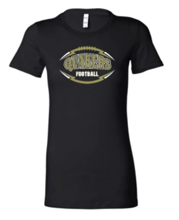 QV YOUTH FOOTBALL GIRLS & LADIES RINGSPUN SOFT COTTON T-SHIRT