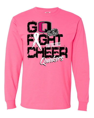 QV YOUTH CHEER PINK OUT LONG SLEEVE T-SHIRT