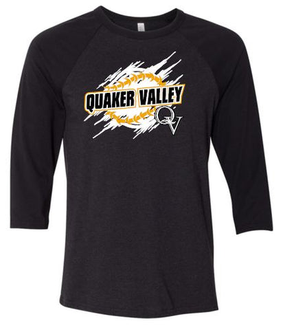 QV BASEBALL SKETCH THREE-QUARTER SLEEVE