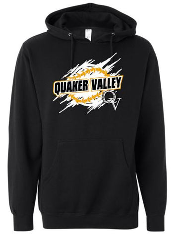 QV BASEBALL SKETCH HOODED SWEATSHIRT