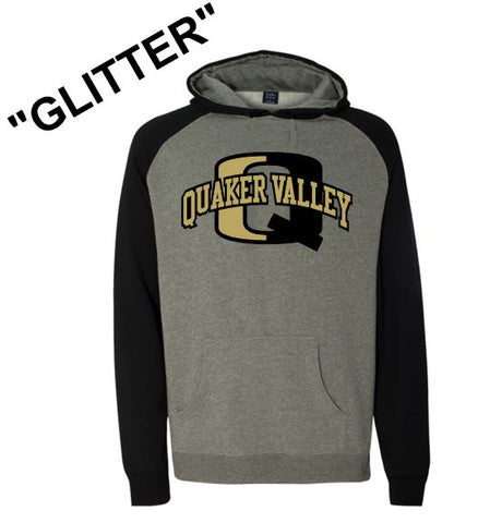 """GLITTER"" QV RAGLAN HOODED SWEATSHIRT"