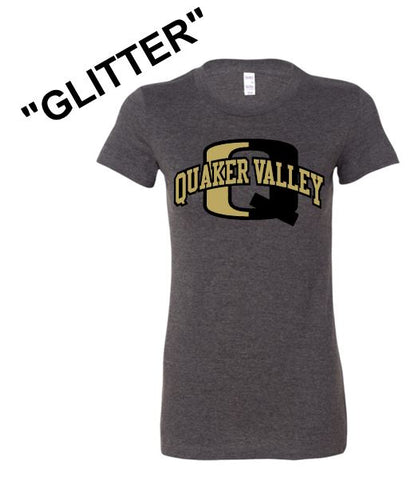 """GLITTER"" QV LADIES SHORT SLEEVE TEE"