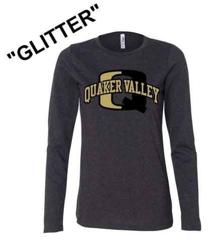 """GLITTER"" QV LADIES LONG SLEEVE TEE"