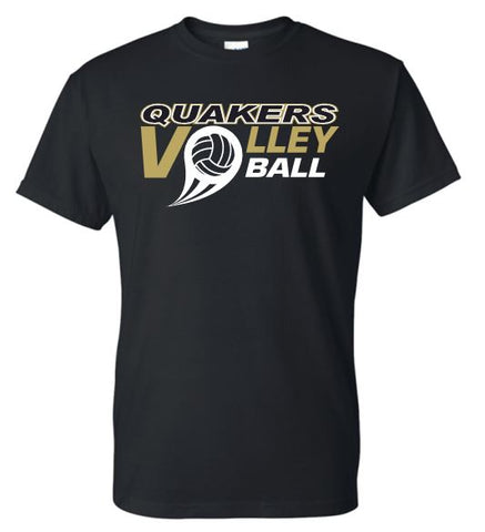 QUAKERS VOLLEYBALL MOISTURE WICKING SHORT SLEEVE T-SHIRT