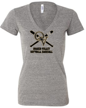 QVSB LADIES SPIRIT WEAR - V-NECK TRIBLEND