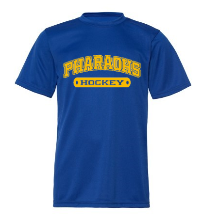 PHARAOHS HOCKEY WICKING SHORT SLEEVE - 1 COLOR INK