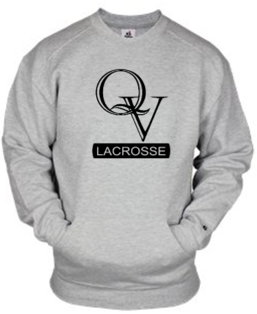 QV GIRLS LACROSSE CREWNECK SWEATSHIRT WITH POCKET