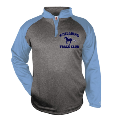 STALLIONS POLY/FLEECE 1/4 ZIP