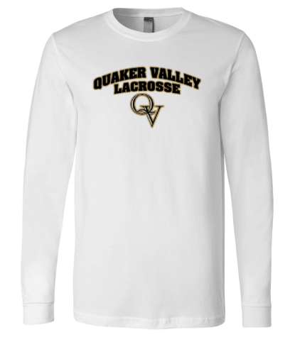 QV VARSITY BOYS LACROSSE RINGSPUN HEAVY COTTON LONG SLEEVE