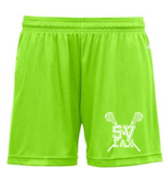"SVLAX GIRLS LACROSSE 4.5"" INSEAM POLY-WICKING SHORTS"