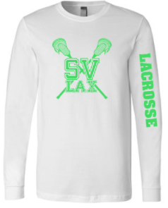 SVLAX GIRLS LACROSSE COTTON LONG SLEEVE T-SHIRT