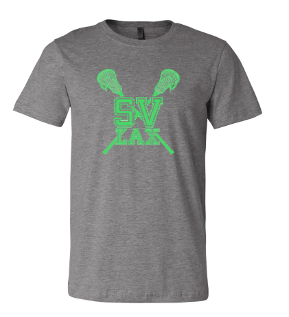 SVLAX GIRLS LACROSSE RINGSPUN COTTON UNISEX SHORT SLEEVE