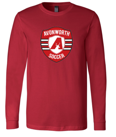 AVONWORTH SOCCER RINGSPUN SOFT COTTON LONG SLEEVE (YOUTH & ADULT)